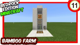 Automatic Bamboo Farm Bedrock Edition Minecraft Map & Project