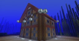 An Aquatic Update Underwater House Minecraft Map & Project