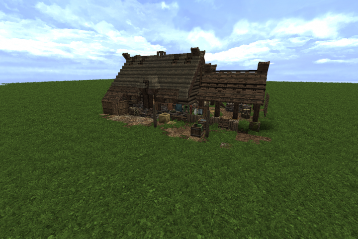 Popular Server Project : Anglo Saxon Style Home with Conquest Reforged 1.12