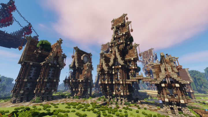 Steampunk Town Minecraft Project