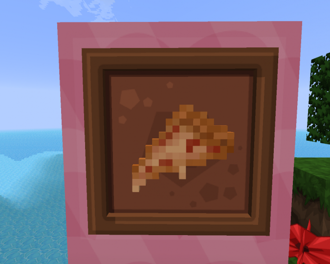 Behold! the pizza