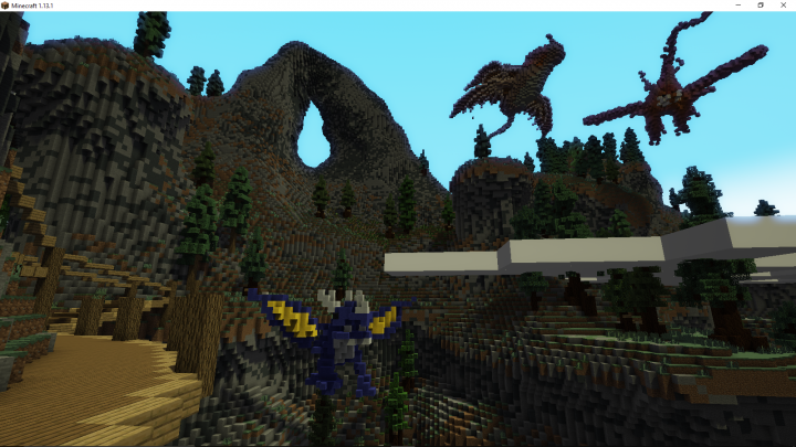 Fly around on Dragons!