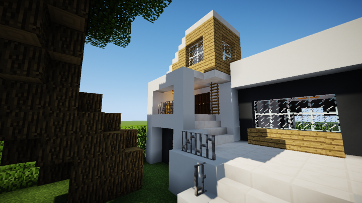MODERN HOUSE Design! DOWNLOAD Minecraft Project