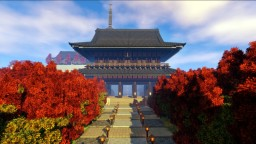 Japan fall in temple 日本の秋 Minecraft Map & Project