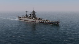 French Battleship Dunkerque 1:1 Minecraft