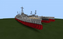 Custom ww1 dreadnought battleship (WIP) Minecraft