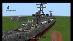 IJN Kagero class japanese dd 1:1 scale Minecraft