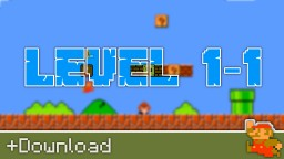 Super Mario Bros. Level 1-1 Minecraft Map & Project
