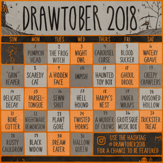 Popular Blog : Drawtober 2018 Art Blog