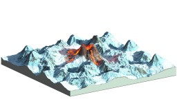 Frozen Vulcano Minecraft Map & Project