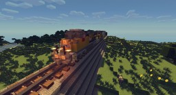 Union Pacific Freight Train Minecraft Map & Project