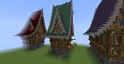 Medieval Fantasy Houses Minecraft Map & Project