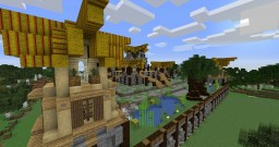 Medieval Farm themed Faction Server Spawn [World & Schematic] Minecraft Map & Project