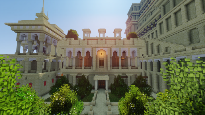 Badgir towers and gardens