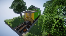 Burlington Northern Style Caboose Minecraft Map & Project