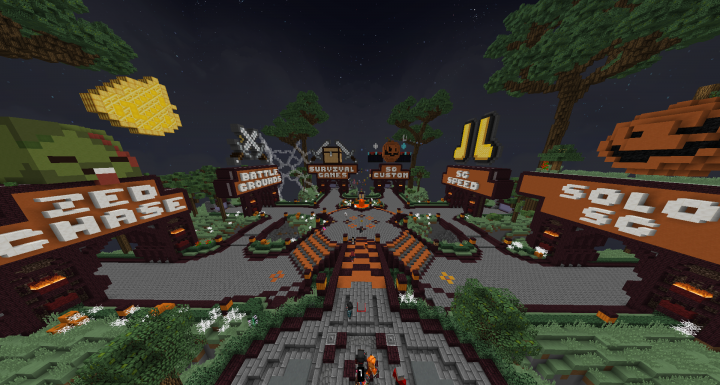Popular Server Project : BackPlay Halloween hub