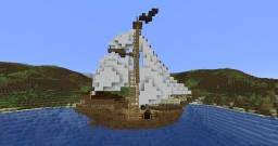 The Sloop from Pirates of The Caribbean: Online Minecraft