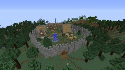 Base,Ship and Village made in survival mode Minecraft Map & Project