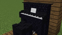 Minecraft Upright Piano Schematic Minecraft Map & Project