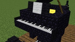 Minecraft Modern Piano Schematic (+ chair) Minecraft Map & Project