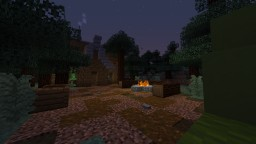 Rustic house with tent, campfire and pond Minecraft Map & Project