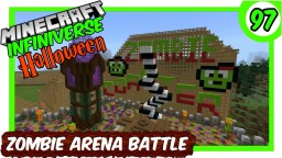 """Zombie Spawner Arena Battle Part 2"" [97] Minecraft Bedrock Infiniverse Minecraft Map & Project"