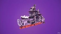 Sharkulon - Oriental steampunk fantasy battleship Minecraft