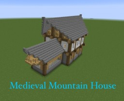 Medieval Style Mountain Home Minecraft Map & Project