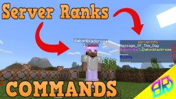 Server Ranks Command Minecraft Map & Project