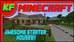 5 Awesome Starter Houses for Bedrock Edition MC Minecraft Map & Project