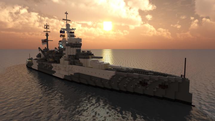 Popular Project : British Battleship - HMS Warspite (1942)