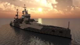 British Battleship - HMS Warspite (1942) Minecraft Map & Project