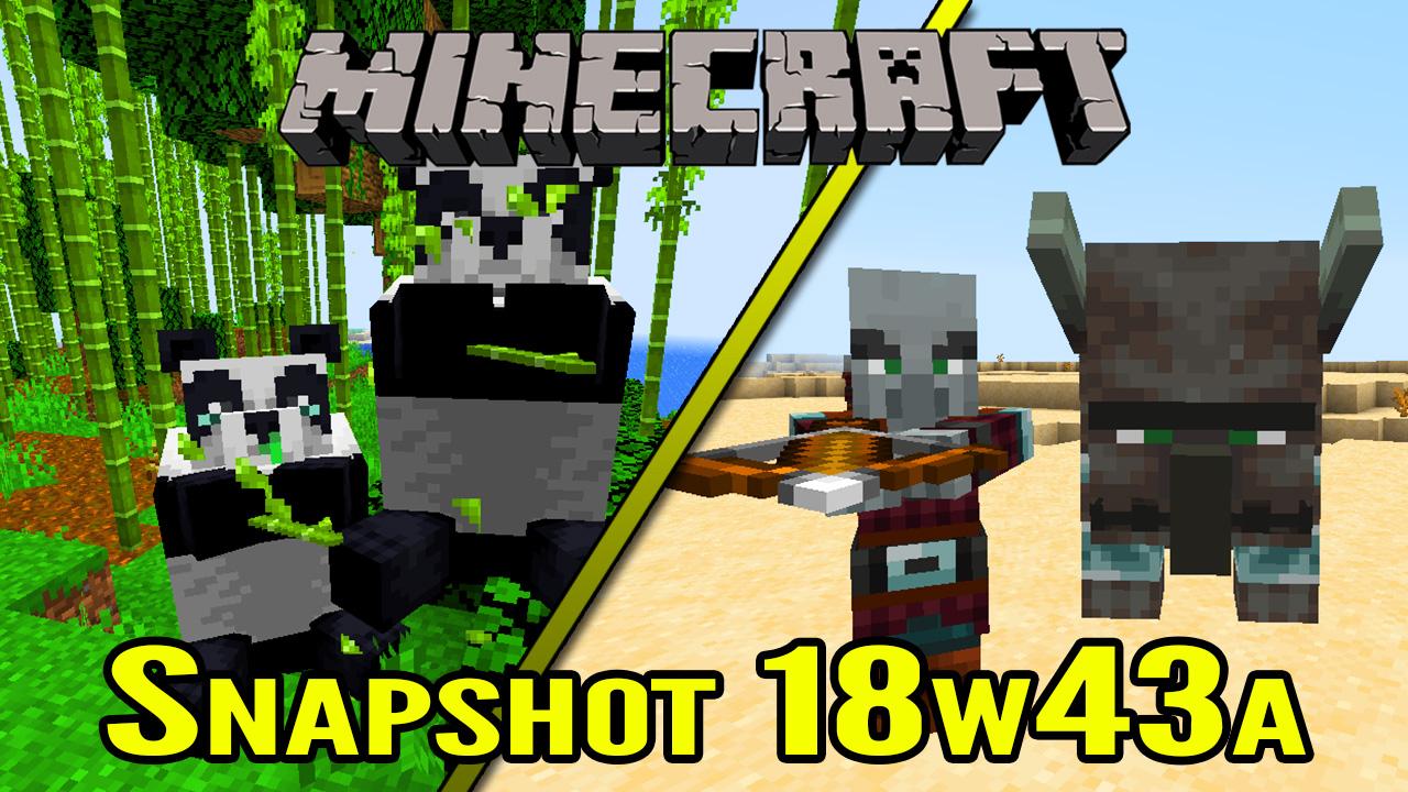 Minecraft Village And Pillage Update Snapshot 18w43a Pandas