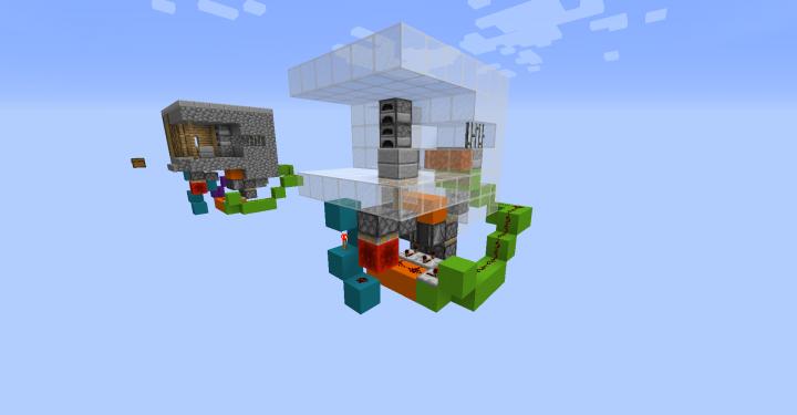 Secret Base in a Village-Blacksmith Minecraft Project