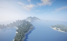 """ Glacial Island "" By ClemsDX - WorldPainter Minecraft Map & Project"