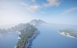 """ Glacial Island "" By ClemsDX - WorldPainter Minecraft"