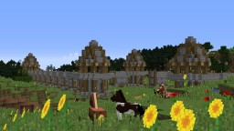 Medieval Wall with Defence Tower Minecraft Map & Project