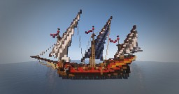Xebec -  Mediterranean Sailing Ship Minecraft Map & Project