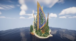 A Magnificent Futuristic Fountain (Schematic) Minecraft