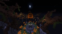 Hallowen style skyblock spawn (Building for a server) Minecraft Map & Project