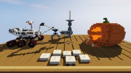 Mars Rover vs. Pumpkin Minecraft Map & Project