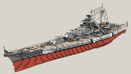 German Battleship Bismarck 1:1 Minecraft Map & Project