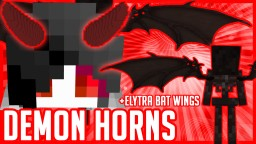 DEMON DEVIL HORNS & BAT WINGS | Wearable in Survival Vanilla | No Mods No Optifine | Minecraft 1.13+ | MODEL REALITY ELYTRA REALITY Minecraft Texture Pack