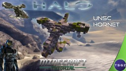 "UNSC AV-14 Attack VTOL ""Hornet"" Minecraft Map & Project"