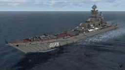 Russian battle cruiser  Peyotr Velikiy Minecraft