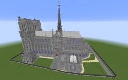 Notre Dame de Paris, France 2:1 replica Minecraft Map & Project