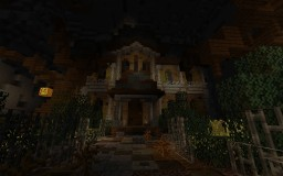 Haunted house with redstone puzzles Minecraft