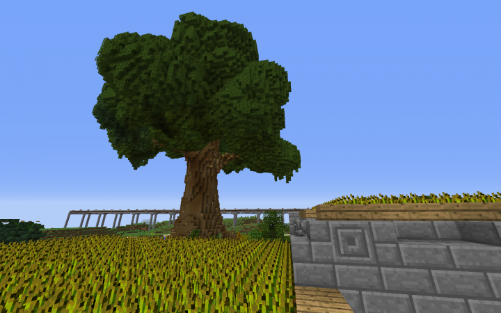 Popular Server Project : Giant tree over a wheat farm
