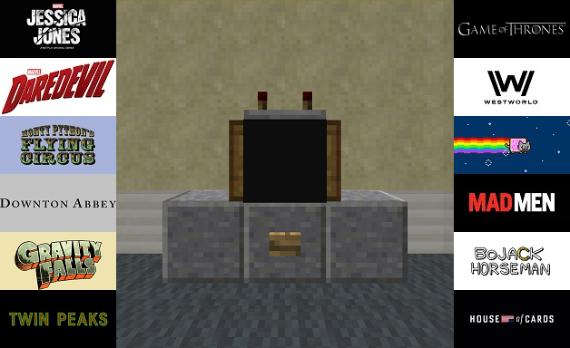 Working TV in vanilla with 12 different shows
