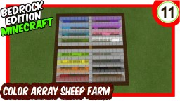 Color Array Sheep Farm Bedrock Edition Minecraft Map & Project